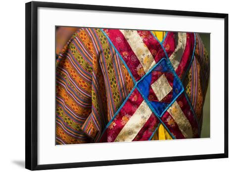 Detail of a Traditional Robe as Seen from the Rear-Michael Melford-Framed Art Print