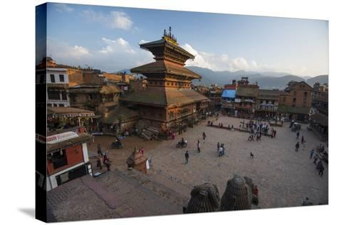 Durbar Square in the Medieval City of Bhaktapur-Michael Melford-Stretched Canvas Print