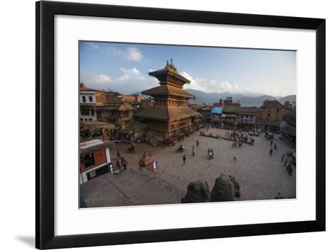 Durbar Square in the Medieval City of Bhaktapur-Michael Melford-Framed Art Print
