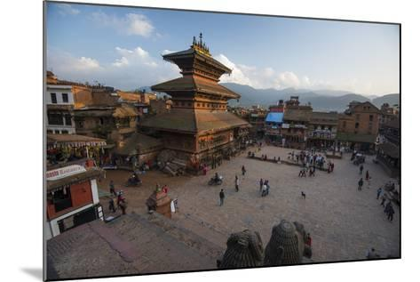 Durbar Square in the Medieval City of Bhaktapur-Michael Melford-Mounted Photographic Print