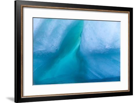 Detail of an Iceberg at Storoya Island-Michael Melford-Framed Art Print