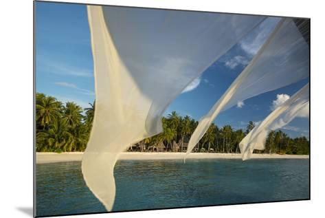 Diaphanous Curtains Flapping in the Breeze at a Resort in the Maldives-Michael Melford-Mounted Photographic Print