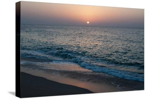 Sunset in Ras Al Hadd, Oman, and the Junction of the Gulf of Oman and Arabian Sea-Sergio Pitamitz-Stretched Canvas Print