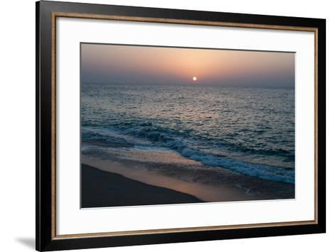 Sunset in Ras Al Hadd, Oman, and the Junction of the Gulf of Oman and Arabian Sea-Sergio Pitamitz-Framed Art Print