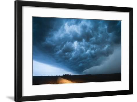 A Picturesque Supercell Thunderstorm at Twilight-Jim Reed-Framed Art Print