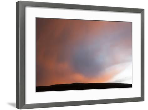 A Thunderstorm Produces a Rain Foot at Sunset-Jim Reed-Framed Art Print