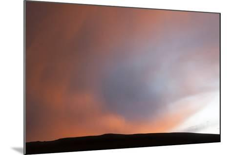 A Thunderstorm Produces a Rain Foot at Sunset-Jim Reed-Mounted Photographic Print