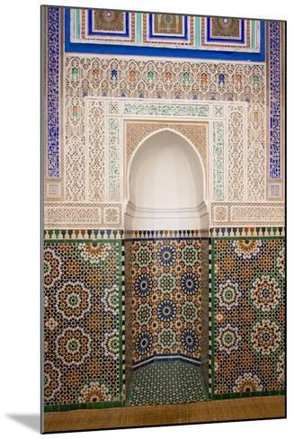 Intricate Tile Mosaics in an Alcove at the Mausoleum of Moulay Ismail-Erika Skogg-Mounted Photographic Print