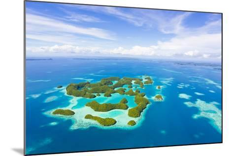 An Aerial View of Palau's Rock Islands in the Turquoise Waters of the Pacific Ocean-Mike Theiss-Mounted Photographic Print