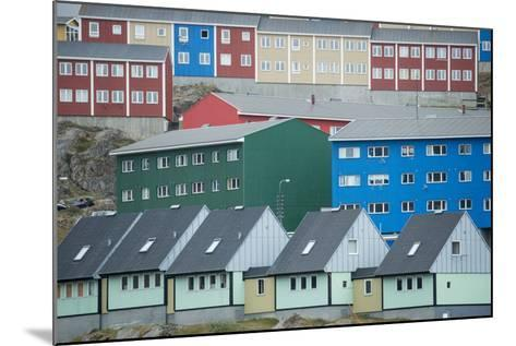 Buildings in Sisimiut Looking Like Stacked Up Toys-Michael Melford-Mounted Photographic Print