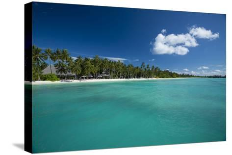 A Beach at a Resort in the Maldive Islands-Michael Melford-Stretched Canvas Print