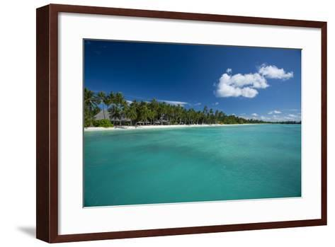 A Beach at a Resort in the Maldive Islands-Michael Melford-Framed Art Print
