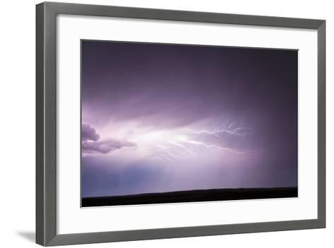 Cloud-To-Cloud Lightning Wriggles across the Sky-Jim Reed-Framed Art Print