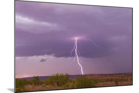 Intense Purple Lightning Bolts Strike in the Desert of New Mexico-Mike Theiss-Mounted Photographic Print