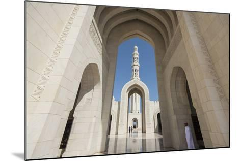 The Three Arches That Comprise the Main Entrance to the Sultan Qaboos Grand Mosque-Michael Melford-Mounted Photographic Print