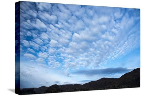 Stratocumulus Clouds over Scablands-Michael Melford-Stretched Canvas Print