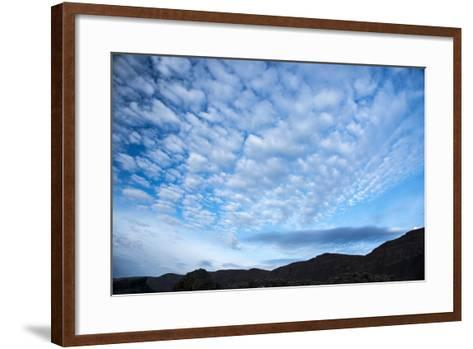 Stratocumulus Clouds over Scablands-Michael Melford-Framed Art Print