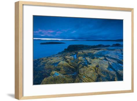 Coastline of the San Juan Islands-Michael Melford-Framed Art Print