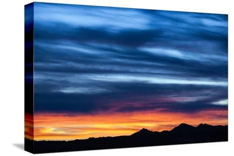 Spectacular Sunset and Stormy Sky-Jim Reed-Stretched Canvas Print