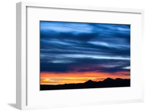 Spectacular Sunset and Stormy Sky-Jim Reed-Framed Art Print