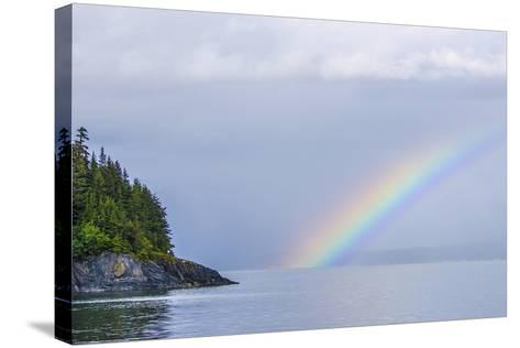 Rainbow over the Ocean-Rich Reid-Stretched Canvas Print