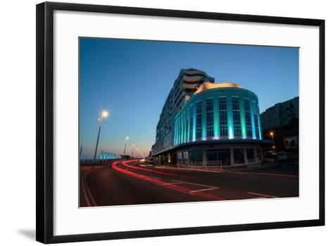 The Art Deco Marine Court Apartment Building, Designed to Resemble the Liner Queen Mary-Roff Smith-Framed Art Print