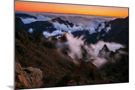 Clouds Roll over the Peaks at Caldera De Taburiente at Sunset-Babak Tafreshi-Mounted Photographic Print