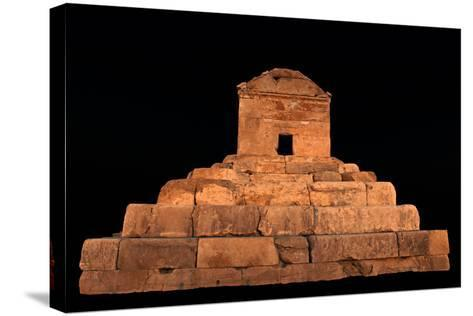 The Tomb of Cyrus the Great, in Pasargadae, at Night-Babak Tafreshi-Stretched Canvas Print