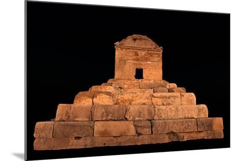 The Tomb of Cyrus the Great, in Pasargadae, at Night-Babak Tafreshi-Mounted Photographic Print