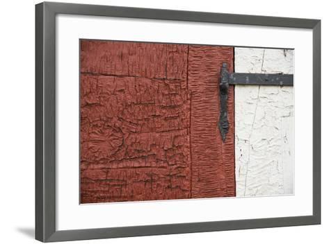 An Old Wrought Iron Hinge on a Weathered Door and Frame-Michael Melford-Framed Art Print