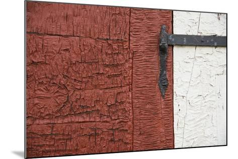 An Old Wrought Iron Hinge on a Weathered Door and Frame-Michael Melford-Mounted Photographic Print