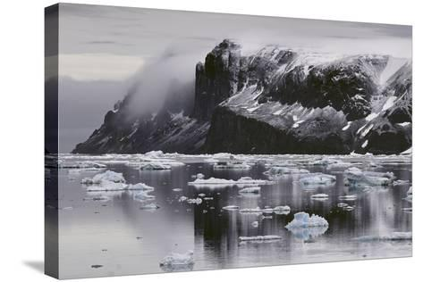 Devil's Island and Floating Ice in the Weddell Sea-Jim Richardson-Stretched Canvas Print