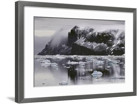 Devil's Island and Floating Ice in the Weddell Sea-Jim Richardson-Framed Art Print