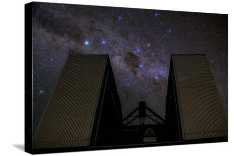 An 8-Metre Giant Telescope Studies the Skies at the Cerro Paranal Observatory-Babak Tafreshi-Stretched Canvas Print