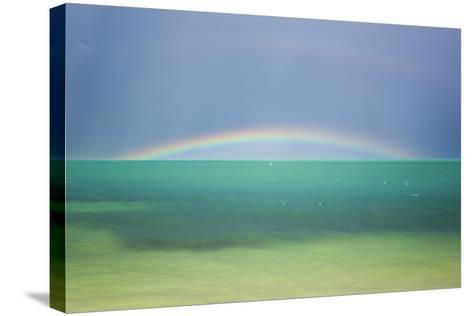 A Brilliant Double Rainbow over the Atlantic Ocean in the Florida Keys-Mike Theiss-Stretched Canvas Print