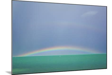 A Brilliant Double Rainbow over the Atlantic Ocean in the Florida Keys-Mike Theiss-Mounted Photographic Print