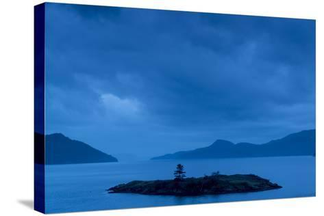 One of the San Juan Islands at Twilight-Michael Melford-Stretched Canvas Print