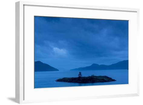 One of the San Juan Islands at Twilight-Michael Melford-Framed Art Print