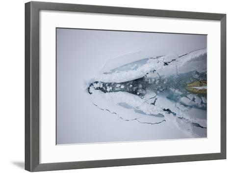 The Bow of a Cruise Ship Plows Through Pack Ice-Jim Richardson-Framed Art Print