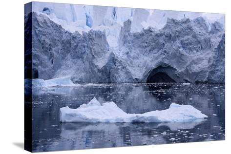 An Iceberg Reflects on the Ocean's Surface-Jim Richardson-Stretched Canvas Print