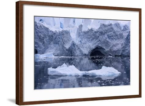 An Iceberg Reflects on the Ocean's Surface-Jim Richardson-Framed Art Print