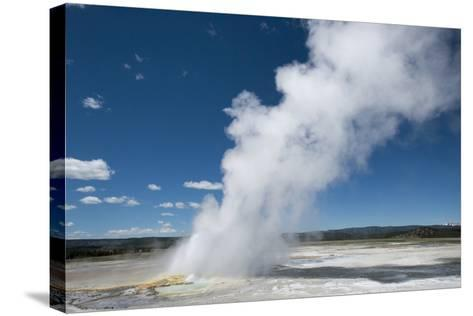 Steam Is Expelled from a Geyser in Yellowstone National Park, Wyoming-Joel Sartore-Stretched Canvas Print