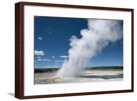 Steam Is Expelled from a Geyser in Yellowstone National Park, Wyoming-Joel Sartore-Framed Art Print