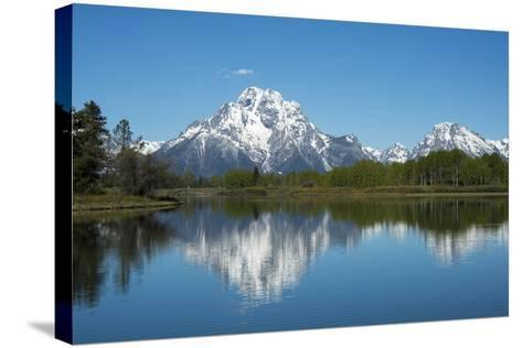 A Mountain Reflected in a Lake in Yellowstone National Park, Wyoming-Joel Sartore-Stretched Canvas Print