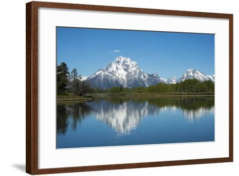 A Mountain Reflected in a Lake in Yellowstone National Park, Wyoming-Joel Sartore-Framed Art Print