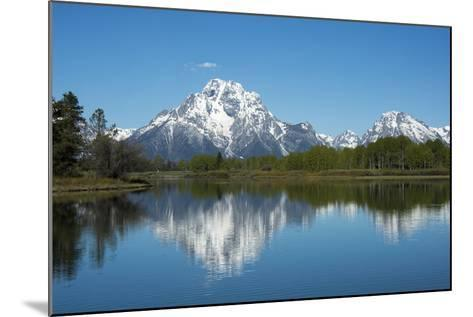 A Mountain Reflected in a Lake in Yellowstone National Park, Wyoming-Joel Sartore-Mounted Photographic Print
