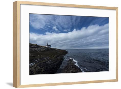 The Patos Island Lighthouse-Michael Melford-Framed Art Print