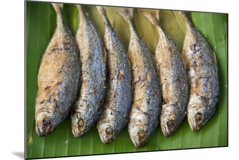 Fish for Sale in a Street Market-Michael Melford-Mounted Photographic Print