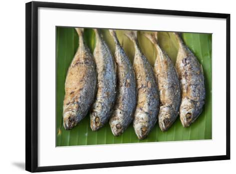 Fish for Sale in a Street Market-Michael Melford-Framed Art Print