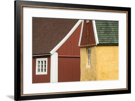 Colorful Buildings in Sisimiut-Michael Melford-Framed Art Print